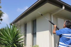 Cleaning the outside of the house at Caloundra