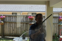 Cleaning an external window