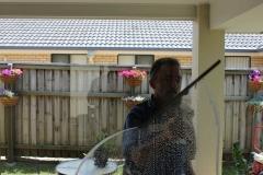 Cleaning an external window