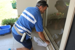 Cleaning the window tracks is part of the service we provide to Caloundra